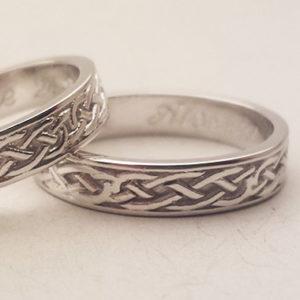 Fedi nuziali celtiche in oro bianco
