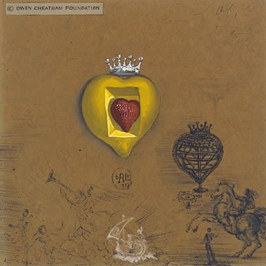 Il Cuore Pulsante in oro e diamanti di Salvador Dalì, The Royal Heart del 1953