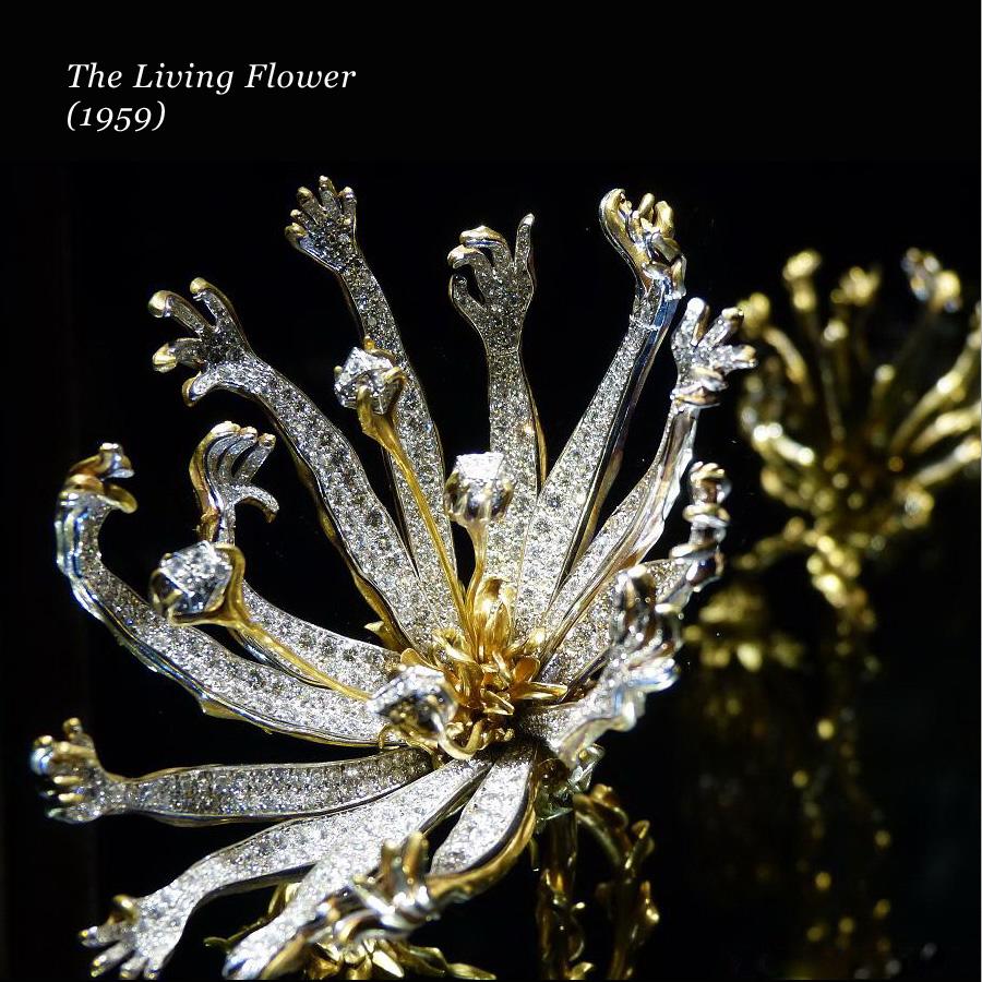 Un gioiello di Salvador Dalì a forma di fiore, The Living Flower del 1959