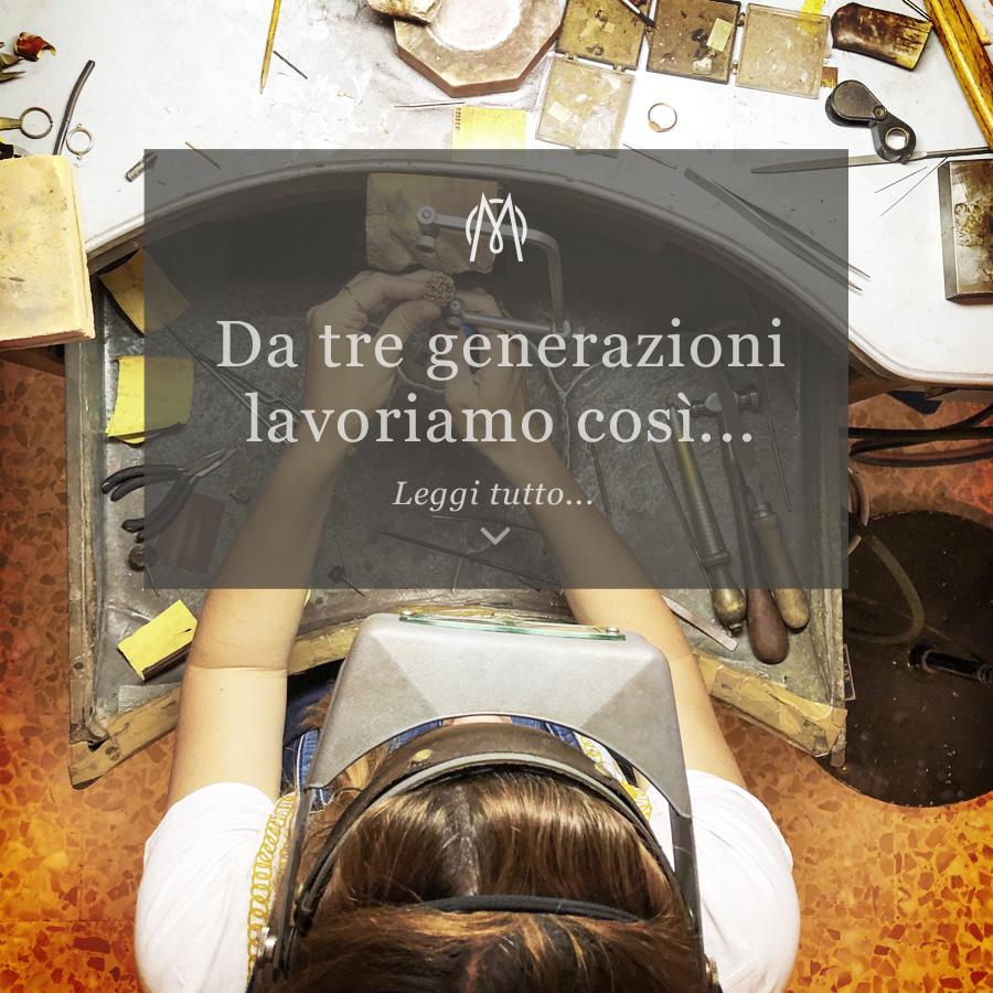 Copertina del post Da tre generazioni lavoriamo così - Orafo al banchetto di lavoro