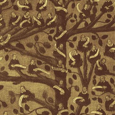 Un disegno medioevale di un albero di famiglia