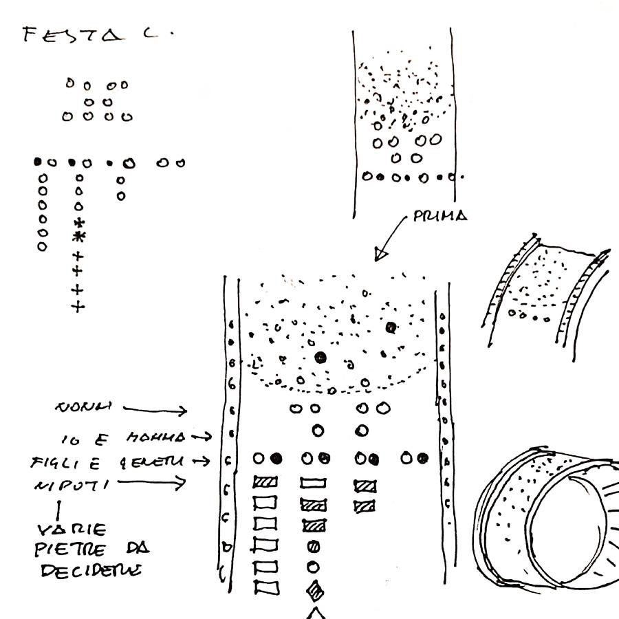 Lo schizzo oroginale dell'anello Dinastia