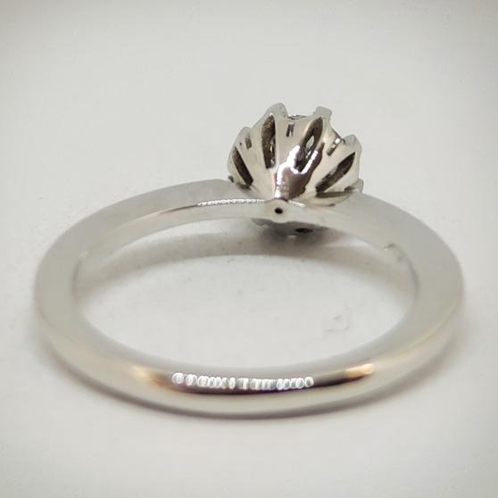 Anello Vintage per fidanzamento, dettaglio posteriore castone