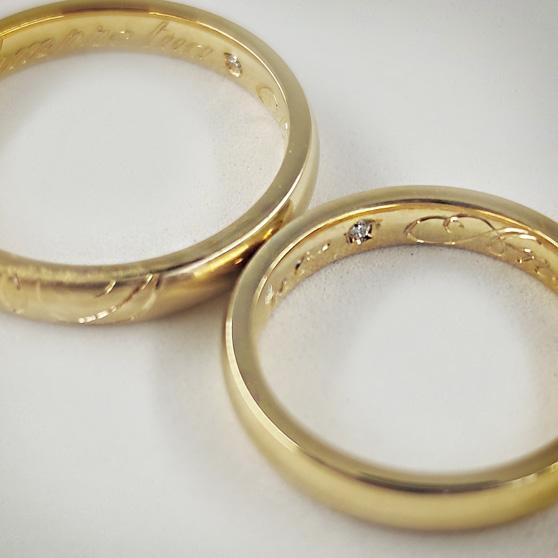 Fedi comfort in oro giallo e incisione artigianale