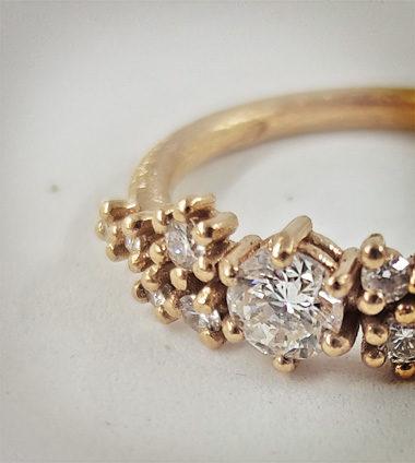 Anello con 11 diamanti, dettaglio per anteprima